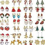 Natale Orecchini orecchino delle donne di Natale Ear Stud Set di Natale Jingle Bells fumetto dell'orecchio regali di Stud ipoallergenico di Natale per la decorazione domestica del partito