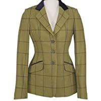 Shires Aubrion Saratoga Competition Tweed Jacket 44 inch Navy Maroon Check