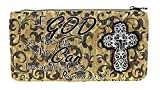 Private Label Embroidered Bible Verse Cross Wallet