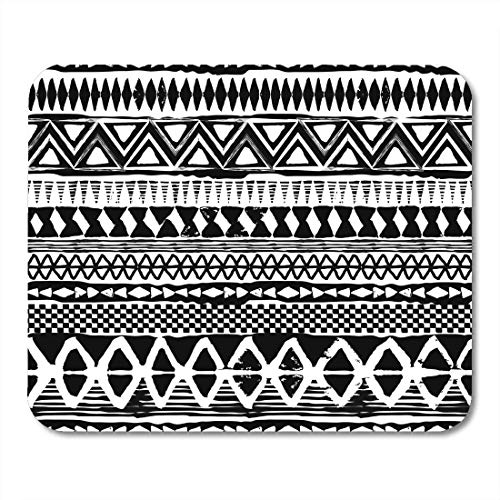 AOHOT Mauspads Watercolor Pattern Abstract Black and White Tribal African Paint Mexican Mouse pad 9.5