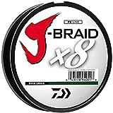 Daiwa JBGD8U80-300DG J-Braid Grand 8X Filler Spool 300yds 80 lb. Test Fishing Line, Dark Green