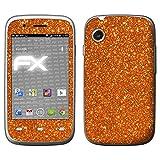atFolix Skin kompatibel mit Wiko Ozzy, Designfolie Sticker (FX-Glitter-Orange-Juice), Reflektierende Glitzerfolie