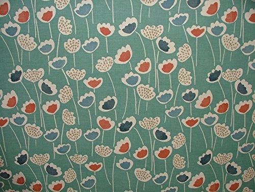 Halben Meter Prestigious Textiles South Pacific Clara Scandi Vorhang Raffrollo Möbelstoff, Blumenmuster (Chenille-gobelin-polster)