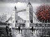 Rflkt London Tower Bridge von der Themse - große Kunst Öl