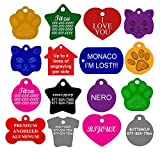 Dog ID Tags Custom Engraved | 11 Shapes | 8 Colors | by CNATTAGS® (LIFE TIME WARRANTY) LEAVE ENGRAVING DETAIL IN 'Gift Message Area At Checkout'