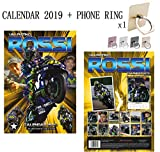 Valentino Rossi Calendrier 2019 + Phone Ring Metal Stand Holder for All Mobile Phone