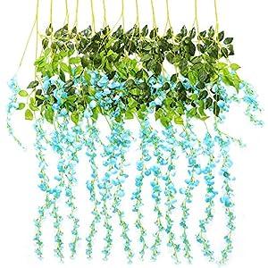 Trvancat – Guirnalda de flores artificiales para decoración de bodas, arcos, fiestas, decoración de jardín, 12 unidades