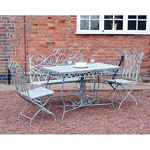 kingfisher-fsvg2-grey-vintage-dining-set-white-4-piece
