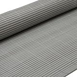 Eyepower PVC Sichtschutzmatte 180x300cm Grau Windschutz Sichtschutz Doppelstabmatten Gartenzaun Terrasse Zaun