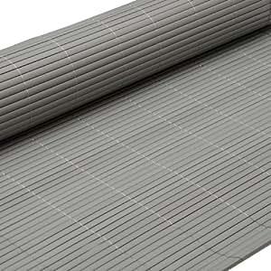 eyepower Canisse en PVC 80x500cm | rouleau en plastique brise vue pare soleil coupe vent clôture barrière déco ombrager jardin balcon terrasse | Gris
