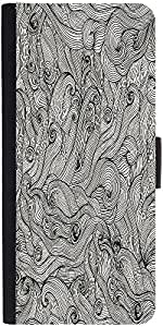 Snoogg Seamless Hand Drawn Waves Texture Designer Protective Phone Flip Case Cover For Lenovo Vibe X3