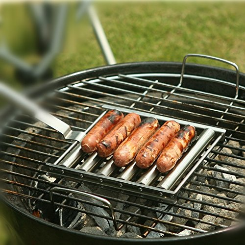 Generic 2016 Generic Tools 6 Stick Edelstahl Hot Dog Roller Outdoor Rolling Fleisch Hot Dog Griller Maker mit Griff mit Griff