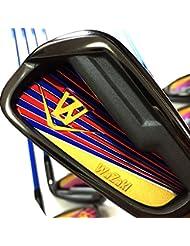 Generic Japón Wazaki negro acabado wl-iis 4-SW MX acero hierros USGA R A reglas Golf Club Set + Funda (paquete de 16, Regular Flex)