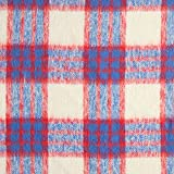 Fabulous Fabrics Mantelstoff Plüsch Karo – rot/blau —