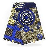 PENVEAT Cera Tessuto della Stampa Africana a Buon Mercato all'Ingrosso Tessuto dell'indumento Tessuto di Cotone Ankara Tissu Cera Donne africane Perizoma Tribale in Blu, YJ600526A2