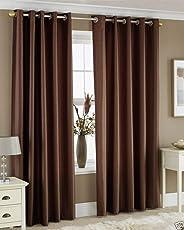 Homefab India's Set of 2 Royal Silky Coffee Curtains(HF043)