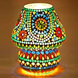 Mejilla Antique Look Decorative Mosaic Table Lamp / Light Lamp / Night Lamp/ Fancy Light / Lamp Shade / Vintage Light / For Drawing Room / Dining Area / Bedroom / Party Decoration / Bedside (Size- 16 X 16 X 18 Cm) BE063