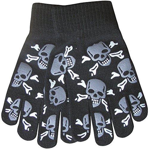 Pour Garçons Chaud D'hiver Thermique Tricot Design Funky Magic Gants Préhension Crâne Et Os En Croix