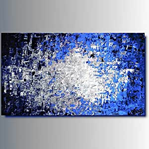 Art mmb rio blu 1 quadri moderni astratti toni del for Immagini quadri moderni astratti