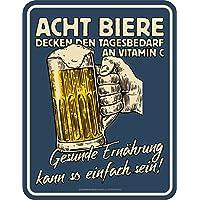 Original RAHMENLOS® Blechschild für den Bier-Trinker: Gesunde Ernährung kann so einfach sein…