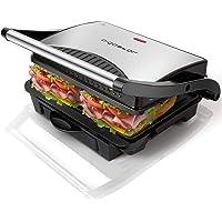 Aigostar Hett 30HHJ - Grill multifonction, plancha, presse à paninis, appareil à sandwichs. 1000W, plaques anti…