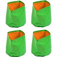 Cocogarden Plastic Green Grow Bags 12X12(Pack of 4)
