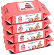 Johnson's Baby Wipes Pack of 4 (80 wet wipes per pack )