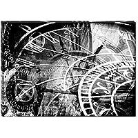 Startonight Cuadro sobre Lienzo en Blanco y Negro Máquina del Tiempo, Impresion en Calidad Fotografica Enmarcado y Listo Para Colgar Diseño Moderno Decoración Formato Grande 60 x 90 CM