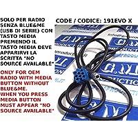 G. M. Producción - 191Evo Xp - Aux iPhone iPod MP3 Cable para Fiat Panda Punto Sin fuente disponible, sin Blue & Me Radio Continental Delphi Grundig
