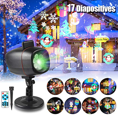 infinitoo 17 Motifs Projecteur Noël LED Extérieur...