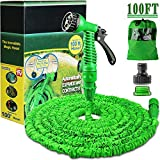 100FT Expanding Garden Water Hose Pipe with 7 Function Spray Gun Expandable Flexible
