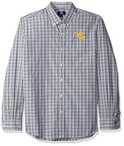 Preisvergleich Produktbild NCAA West Virginia Mountaineers Men's Long sleeve Gilman Plaid Shirt,  Small,  Liberty Navy