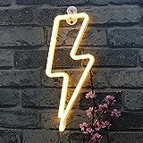 Neon Lightning Shaped Nachtlicht - XIYUNTE VC069 LED Lampe Warmweiß Shine Indoor Dekor Tischlampen Neon Lampen Leuchten Batterie und USB Power Home Weihnachtsfeier Dekor LED Neonlicht Dekorative