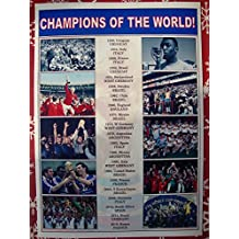 Sports Prints UK FIFA football World Cup winners 1930-2018 - souvenir print