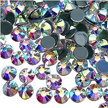 Jollin Vidrio Diamantes de Cristal de Espalda Plano Gemas de Cristal, Hotfix Crystal AB,
