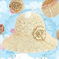 Sombrero De Paja Hembra Verano Pequeño Sombrero De Playa Sunhat Silvestre Salvaje Gran Roca Plegables Viajes Sol Playa Sombrero