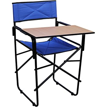 Spacecrafts Folding Study Chair with Writing pad (Blue)