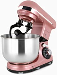 Melangechef 400W 6 Speed Stand Mixer MK18C, Tilt-Head Electric Food Mixer with 4L Stainless Steel Bowl, Dough Hook, Flat Beater, Wire Whip and Splash Guard