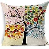 Biodawn Árbol de la vida Funda de Almohada Decorativa Sofá Sofa Coche Cama 45cm x 45cm