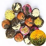 TooGet Fioritura Naturale Del Tè - 6 Varietà Uniche di Piante da Sfere di Tè, Organico Tè Verde - 18 Palle