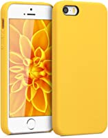 kwmobile TPU Silicone Case for Apple iPhone SE / 5 / 5S - Soft Flexible Rubber Protective Cover - Honey Yellow