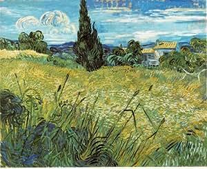7.5cm x 5cm Acrylic Keyring Impressionist Art van Gogh Wheat field, 1889, 73.5x92.5 cm