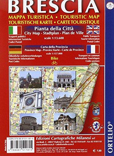 Brescia. Mappa turistica, carta città e provincia