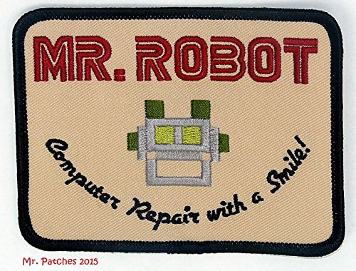MR ROBOT FSOCIETY TV SHOW Embroidery Patch Halloween costume Badge Easy Iron On by Mr ()