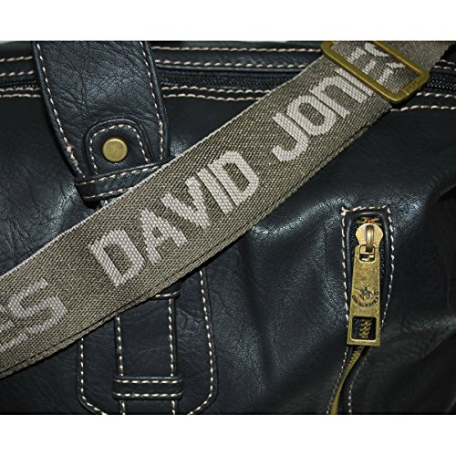 Borsa da viaggio unisex David Jones, Grigio tortora (Multicolore) - mp-5722_302 nero