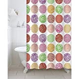 #3: Freelance Value for Money Polyester Shower Curtain with 12 hooks, Waterproof, 180 (Width) x 200 (Height) cm