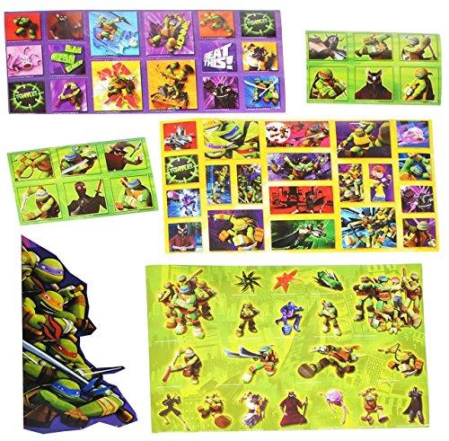 Set 67 Stk. Sticker / Aufkleber - Teenage Mutant Ninja Turtles - selbstklebend Stickerbox - Raphael Schildkröten Turtle Jungen Stickerset Kinder z.B. für Stickeralbum