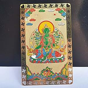 Carte Feng Shui Tara Verte Talisman Bouddhisme /Tibet+ Mxsabrina Bracelet de ficelle rouge gratuit