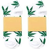 Fablcrew Witte zomer boot sokken vliegende groen esdoornblad patroon hennepblad sokken Harajukustijl sport basketbal kledinga