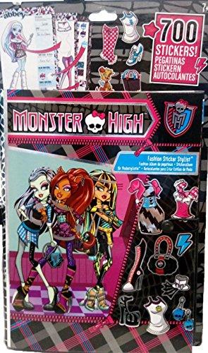 (700x Monster High Sticker + Stickeralbum Aufkleber, Album, Frankie, Clawdeen)